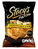 Stacys Pita Chips, Parmesan Garlic & Herb, 1.5-Ounce Bags (Pack of 24)