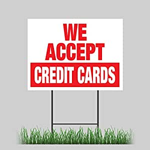 Terrible image throughout we accept credit cards printable sign