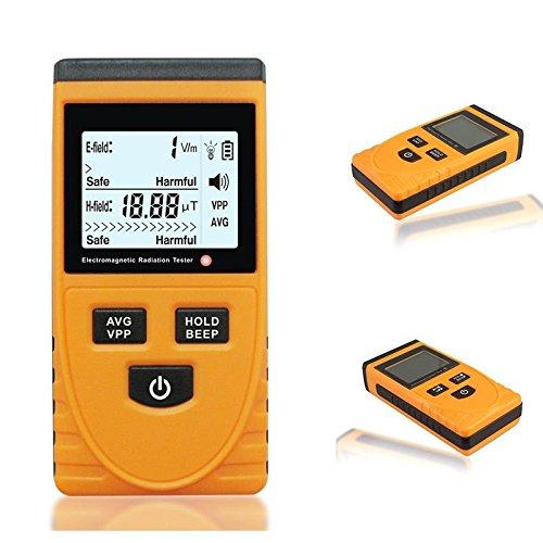 Nouveau Numérique LCD Electromagnétique Radiation Rayonnement Détecteur EMF Meter Tester