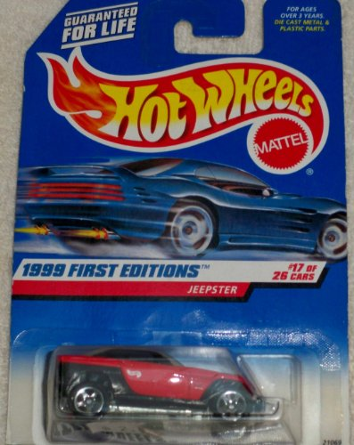 Hot Wheels 1:64 1998 First Editions #17/ 26 Cars Jeepster Mattel Wheels - 1