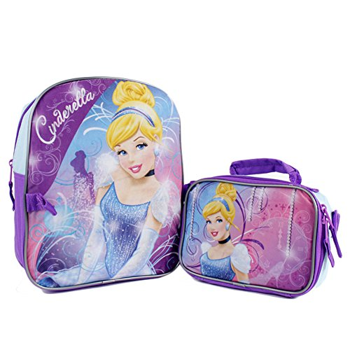 "Disney Princess Cinderella 12"" Backpack Detachable Utility Bag"