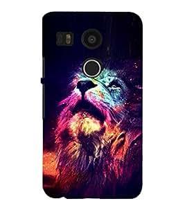 EPICCASE Majestic lions Mobile Back Case Cover For LG Google Nexus 5X (Designer Case)