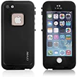 LEVIN iPhone 5 / 5S ケース アイフォン5 / 5Sケース 防水 耐衝撃 防水カバー 防じん 防雪 (ブラック)
