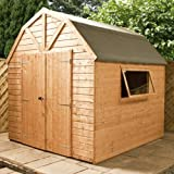 8ft x 8ft Shiplap Apex Wooden Storage Shed - Dutch Barn - Brand 8x8 New Double Door Full Tongue and Groove Sheds