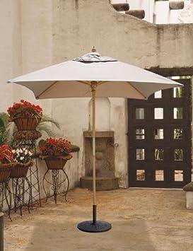 Simple  ft x ft Square Market Umbrella Commercial Grade Sunbrella Fabric by Galtech