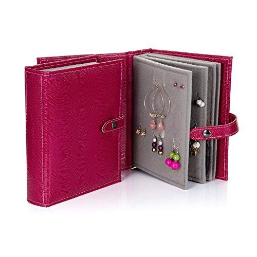 Libretto di storage orecchini a forma di libro gold 19 - Porta orecchini a libro ...
