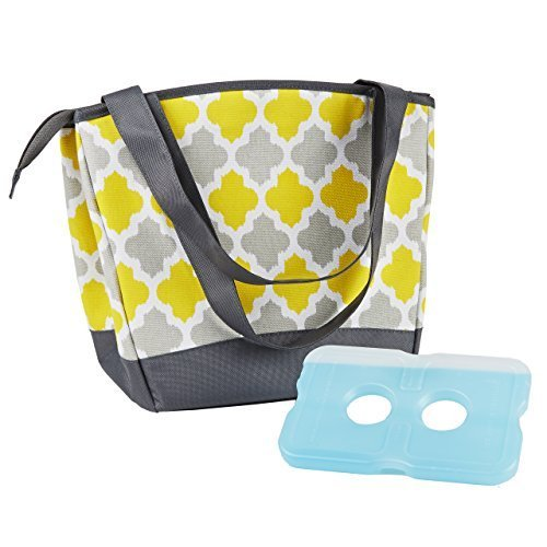 fit-fresh-ladies-hyannis-insulated-designer-lunch-bag-yellow-grey-tile-by-fit-fresh