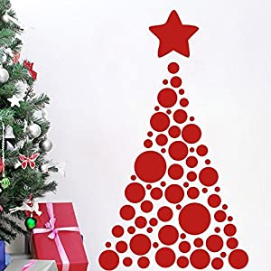 Christmas tree vinyl wall decal sticker for for Christmas wall art amazon