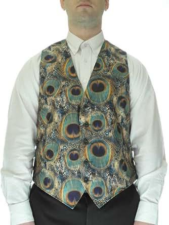 Peacock Print Vest for Men at Amazon Men's Clothing store