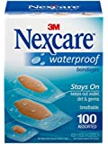 3M Nexcare Waterproof Assorted Bandages, 100 Count