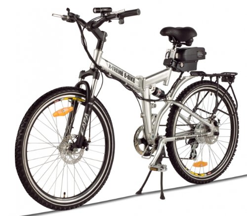 XB-310Li Folding Electric Bicycle - Lithium Power Assisted Mountain Bike