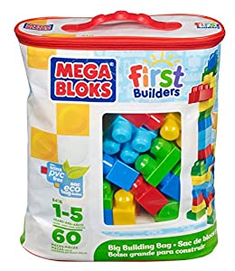 Mega Bloks Classic Buildable Bag (60 Pieces)(1)