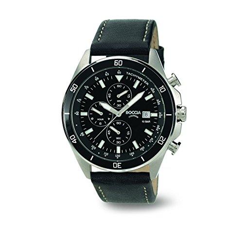Boccia Men's Quartz Watch 3762-06 3762-06 with Leather Strap