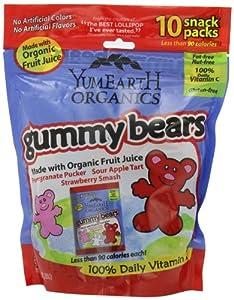 (特价)Yummy Earth经典有机小熊软糖,4袋优惠装,100%天然香料-有机认证,SS后$18.58