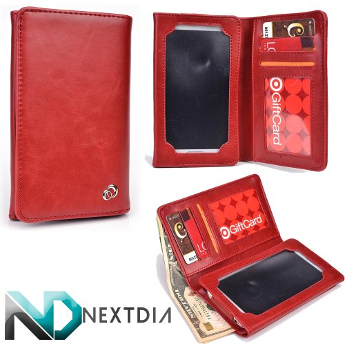 unisex-mens-bifold-wallet-case-huawei-activia-4g-universal-fit-mordant-red-with-viewing-screen-nd-ca