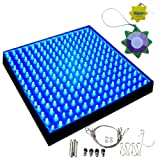 HQRP 13.8W 225 LED Blue Spectrum Hydroponic Plant Grow Light Panel / Lamp + UV Tester