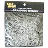 Gold Magic Clear Elastic Braiding Bands - Various Quantity