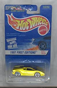 hot wheels 1997 510 first edition 25th anniversary lamborghini countach 1 64 scale. Black Bedroom Furniture Sets. Home Design Ideas