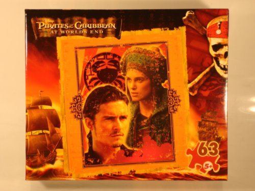 "Pirates of the Caribbean At Worlds End 63 Piece Jigsaw Puzzle 9 1/8"" X 10 3/8"""