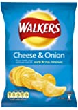 Walkers Crisps Cheese and Onion 32.5 grams (48 Pack)