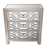 River of Goods Glam Slam Chest of Drawers, 28-Inch