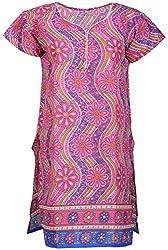 Anshul Textile Women's Cotton Regular Fit Kurta (Multi Color)