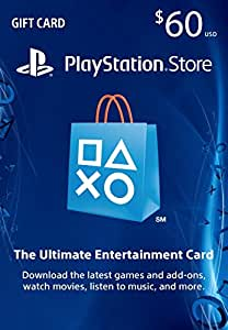 60 playstation store gift card ps4 ps3 ps vita digital code video games. Black Bedroom Furniture Sets. Home Design Ideas