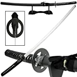 Ace Martial Arts Supply Reverse Blade Katana with Stand, Black (Color: Black)