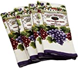 DII Home Essentials Vineyard Print Terry Kitchen Towel, Set of 4