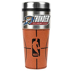 NBA 16-Ounce Stainless Steel Gameball Travel Tumbler by Great American Products