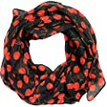 Women scarf cherries print design