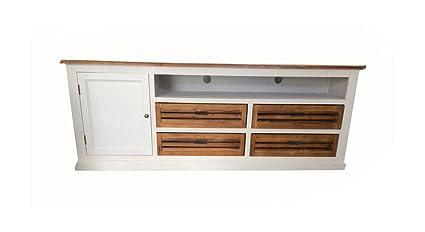 TV Board Lowboard weiß 180cm