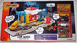 Matchbox CAR WASH ADVENTURE Play Set with 5 Die Cast Cars
