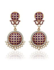 Zaveri Pearls  Dangle & Drop Earring For Women Purple-ZPFK1507