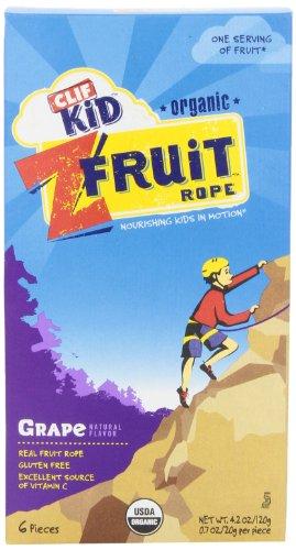 CLIF Kid ZFRUIT - Organic Fruit Rope - (Grape, 6 count) (Cliff Organic Fruit Rope compare prices)
