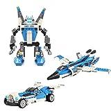 3 en 1 Juguetes Educativos Bloques de Construcción Niños Bricolaje Aviones Supersónicos