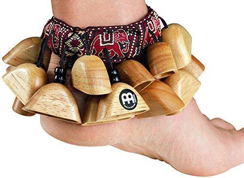 Meinl Percussion FR1NT - Sonagli da caviglia, colore: Legno naturale