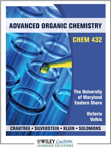 Advanced Organic Chemistry for University of Maryland Eastern Shore
