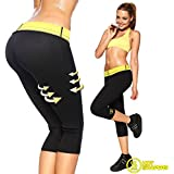 Bliss Hot Sweating Body Shapers Pant Capri Slimming Belt Hot Thermo Sweat Shapers Slimming Capri Pant Sauna Waist Cincher Girdle For Weight Loss Perfect Thigh Shaper For Women & Men (M)