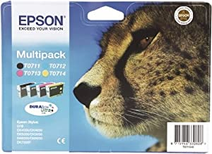 Epson Original T0715 MultiPack Black, Cyan, Magenta, Yellow