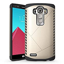 LG G4 Case, Pasonomi [Shield Armor] Hybrid High Impact Dual Layer Defender Protective Case Cover for LG G4 (Shield Series Golden)