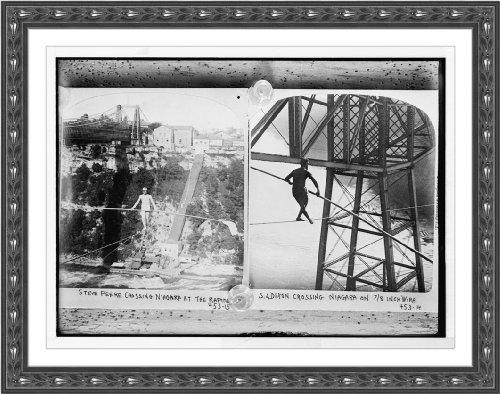 Newswire Photo (M): Steve Peere crossing Niagara on rope at rapids