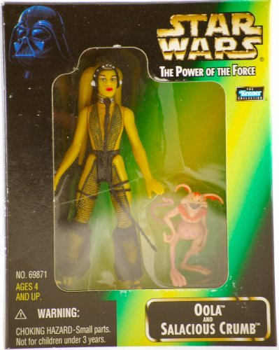 519xypRHD7L Cheap Buy  Star Wars   1998   Kenner   Power of the Force   Oola & Salacious Crumb Action Figures   Rare   From Jabba the Hutts Palace