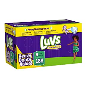 Luvs With Ultra Leakguards Big Pack Size 6 Diapers 66 Count