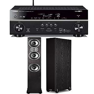 Yamaha RX-V777BT 7.2-channel Wi-Fi Network AV Receiver Plus A Pair of Polk Audio TSi 400 Floorstanding Speakers