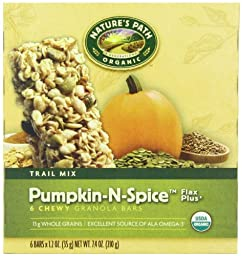 Nature\'s Path Organic Granola Bars, Pumpkin-n-Spice, Flax Plus, 1.2 Ounce,  6-Count Boxes (Pack of 6)
