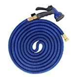 Worth and Nice Expanding Hose Green Flexible Expandable Garden Water Hose Water Pipe/ Water Gun Spray Nozzle (Blue, 50 Feet) US Seller