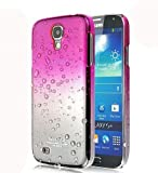 Hot Pink Waterdrop Raindrop Design Hard Skin Snap on Case For Samsung Galaxy S4 SIV i9500