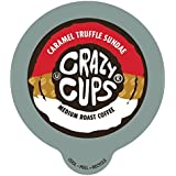 Crazy Cups Caramel Truffle Sandae Flavored Coffee Single Serve cups for Keurig K-cup Brewer, 22 count