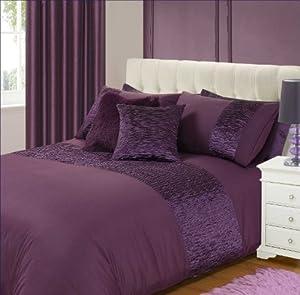 homebeddingstore parure de lit en satin violet aubergine taille lit double cuisine. Black Bedroom Furniture Sets. Home Design Ideas